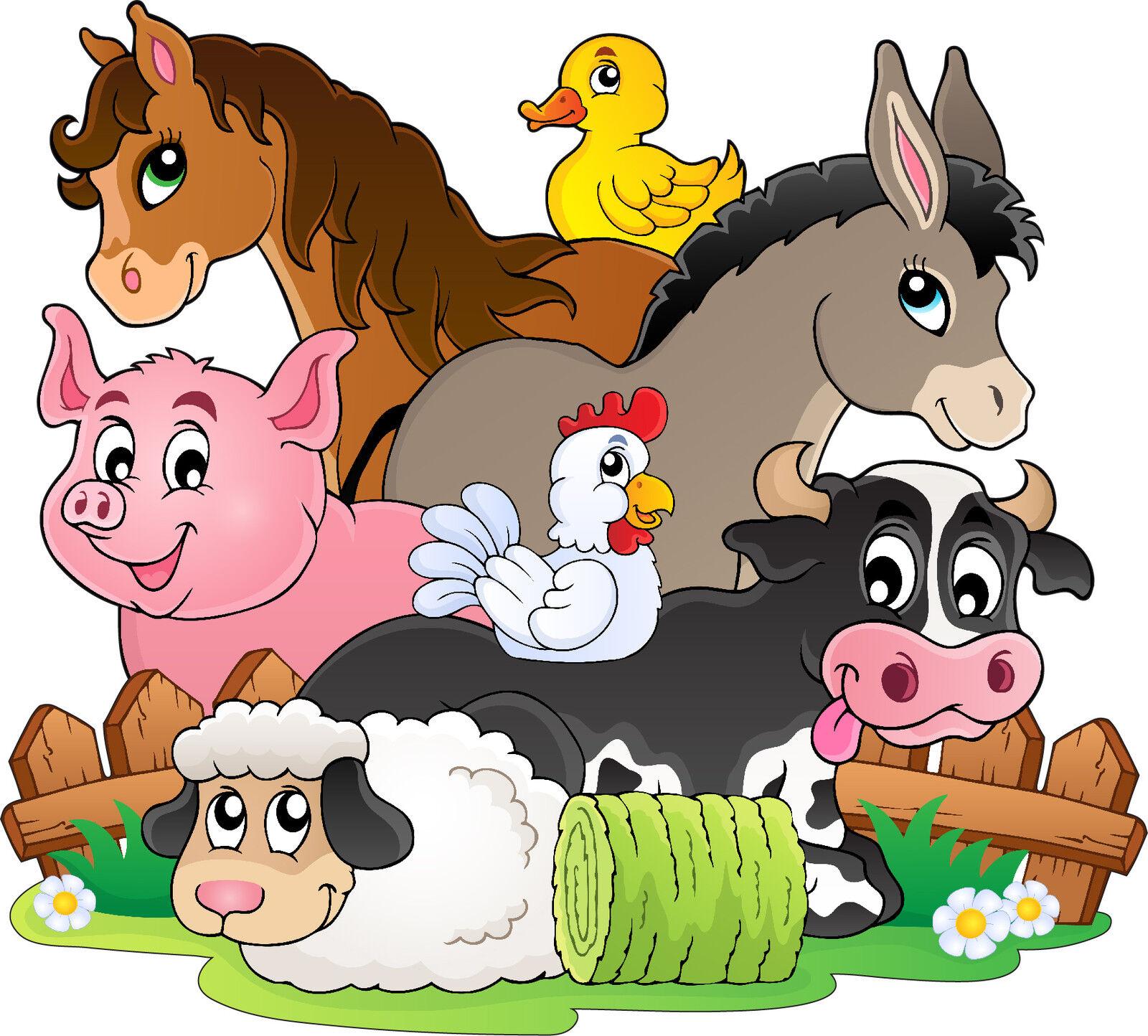 Wandaufkleber Kind Tiere Bauernhof Ref 3630