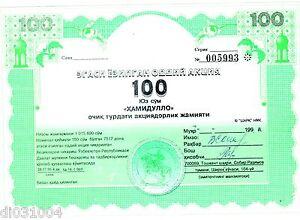 OUZBEKISTAN UZBEKISTAN OBLIGATION 100 SUM ND Loan Bond BON ETAT JVeJLPWy-09163255-591526013