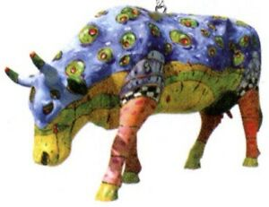 Cow-Parade-2002-SHAKEN-NOT-STEERED-ORNAMENT-7091-New-amp-Hard-to-Find