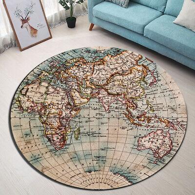 WORLD MAP FLOOR MAT