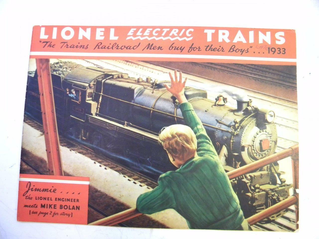 1933 Lionel Color consumidor Catálogo Original