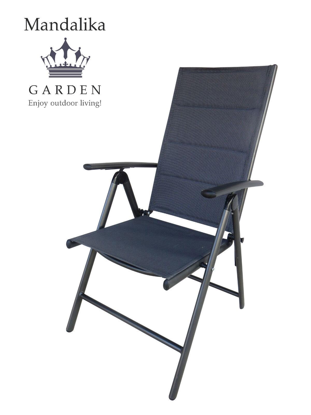Mandalika plegable sillón bolero Mega Padded Alu silla plegable muebles de jardín silla de jardín