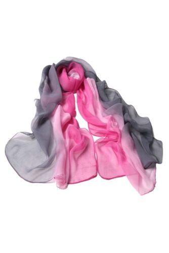 Farbverlauf Wrap Damen Schal Seidenchiffon-Schal  B3M5