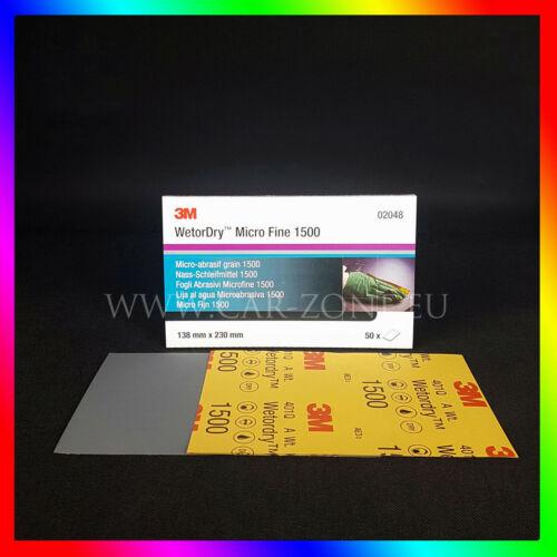 02048 Nassschleifpapier Wetordry MicroFine 3M Nass-Schleifmittel P1500 10x Stk