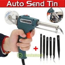 110v Manual Soldering Gun Electric Iron Auto Soldering Machine Kit Tool Tweezer