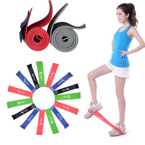Useful Pilates Gym Workout  Rubber Elastic Stretch Resistance Yoga Exercise Band