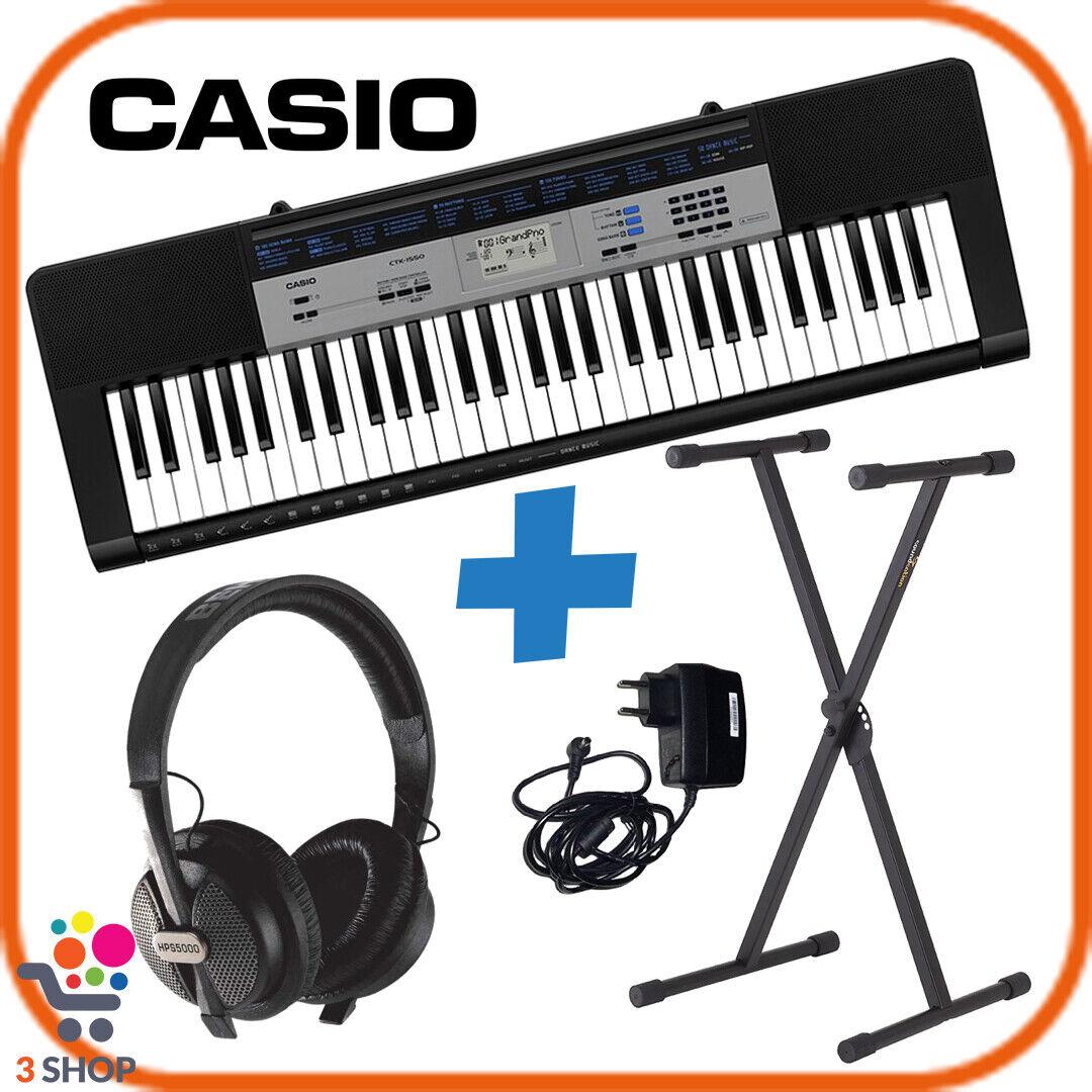 Tastiera digitale pianola CASIO 61 tasti elettronica portatile cuffia supporto