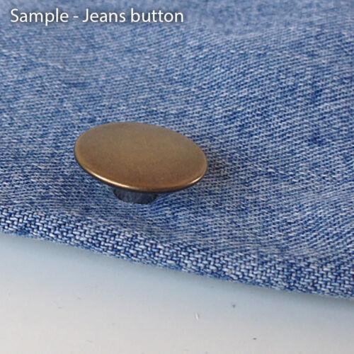 Boutons de jeans en métal Rivet denim laverie Réparation Bricolage pantalon non-rust 17 20mm