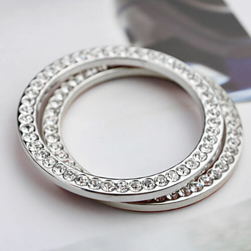 Silver Car Button Start Switch  Rhinestone Bling Ring SUV Decorative Accessories