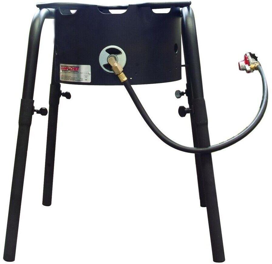 Steel Single Burner Stove Regulator 3 ft. Hose Detachable Adjustable Legs