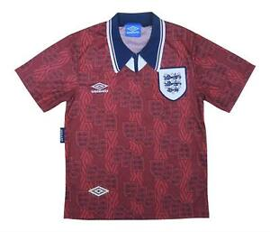 England 1994-95 Authentic Away Shirt (eccellente) Youth Soccer Jersey