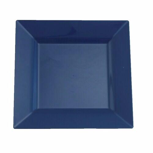 120 6.5  Square Blau Dispsable Wedding Dessert Plates  LOOK REAL