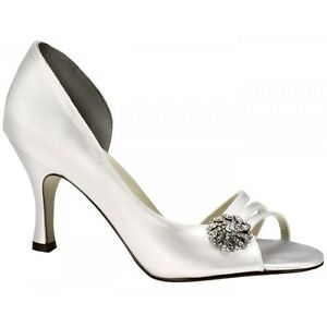 Image Is Loading Touch Ups Sharmain Dyeable Wedding Shoes White Uk