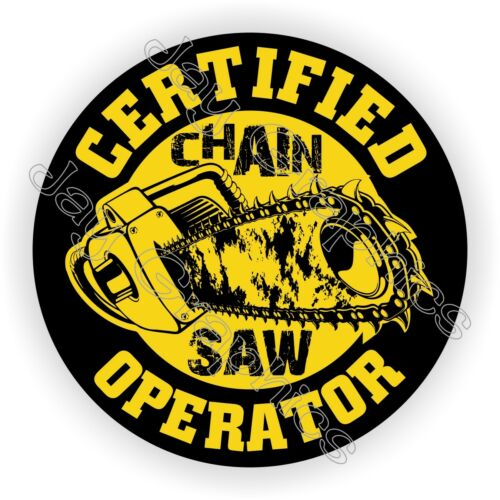 CHAINSAW Operator Hard Hat StickerFunny Helmet Decal Chain Saw Blade Laborer