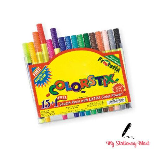 15 Colorstix Colour Sketch Felt Tip Pens Kids Crafts * Free Neon Pen*
