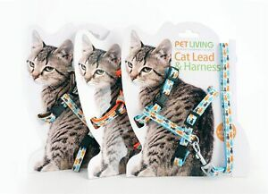 Chat Réglable Harnais & Lead Leash Pet Chaton Kitty Nylon Col Plomb 3 Couleurs-afficher Le Titre D'origine à Distribuer Partout Dans Le Monde