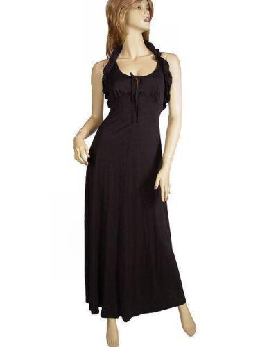 Vintage Halter Dress Black Knit  Young Innocent Sc