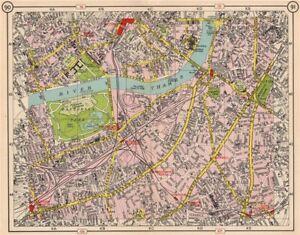 Pimlico London Map.S London Lambeth Pimlico Chelsea Kennington Battersea Clapham 1953