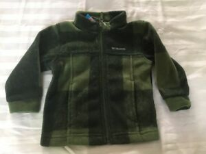 70912cb146fd Columbia Baby Boys Zing III Buffalo Plaid Fleece Jacket Green 12-18 ...