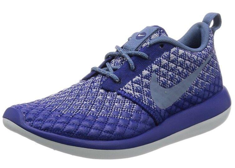 Nike Roshe Two Flyknit 365 Royal bleu Uk 5 Bnib Ladies Trainers Water Repellent