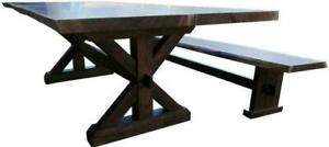 Custom Built Walnut Natural Edge Reclaimed Solid Wood Dining Table Sets Ontario Preview