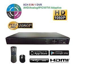 Details about HD TVI 8CH DVR 1080p Hikvision OEM 8CH HD-TVI Hybrid  TVI/Analog/IP, HDMI, NEW