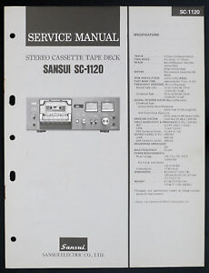 sansui-SC-1120-original-stereo-cassette-tape-deck-service-manual-diagram-o153