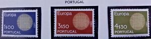 3 X Timbre Stamp Portugal 1970 YT 1073 1074 1075 EUROPA CEPT Neufs