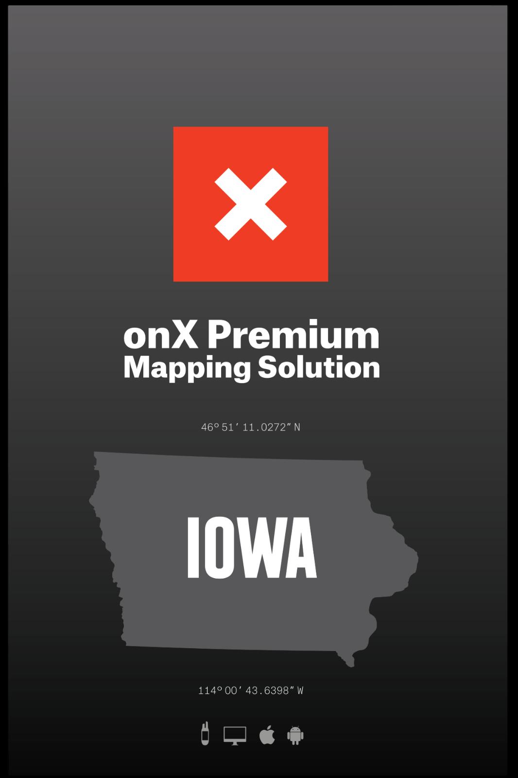 OnXmaps OnXmaps OnXmaps Hunt Iowa for Garmin TOPO Map microSD Card with SD Adapter b11a71