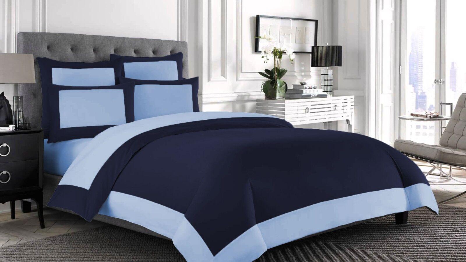 King Size Designer Reversible Duvet cover set 100% Egyptian Cotton Choose color