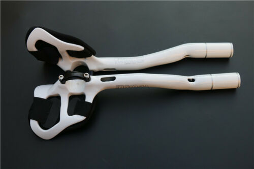 Carbon Road Bike TT Triathlon Aero Bar rest Handlebar Aerobar 31.8*270mm White