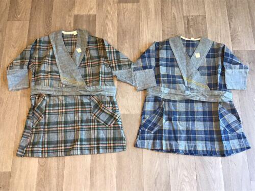 2 Plaid Vintage 1920s 30s NOS Girls Dresses Origin