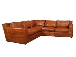 Vintage eck sofa  Echtleder Sofa Redhill Ecksofa Ledersofa 5-Sitzer Designsofa Vintage ...