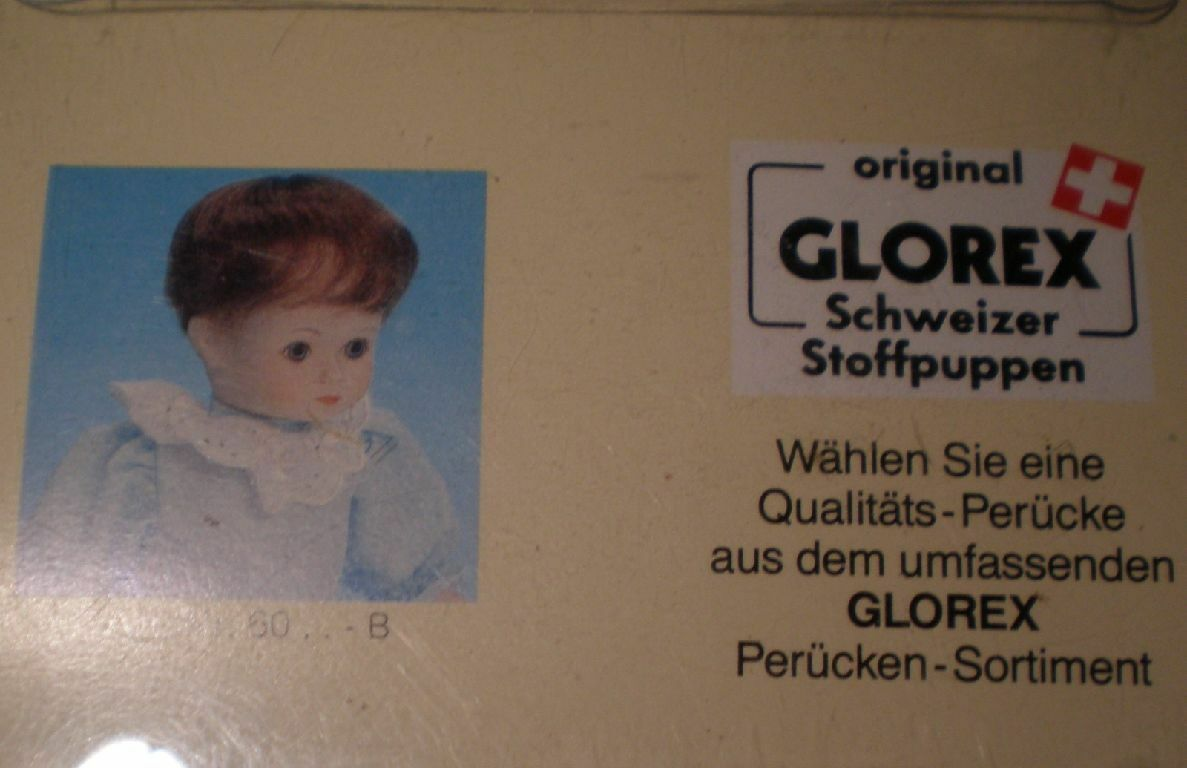 Bambola Parrucca Biondo fragola 11  a 11.5  Glorex/Svizzera Mohair