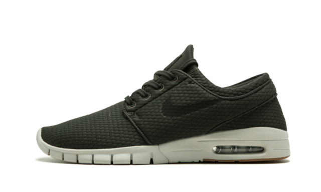 buy popular on wholesale on feet at Nike SB Zoom Stefan Janoski Max SEQUOIA GREEN DARK OLIVE BLACK WHITE  631303-302