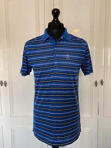 CK Calvin Klein Golf Men's Blue Stripe Short Sleeve Polo T-Shirt S Small VGC
