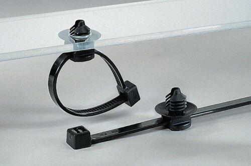 10 St Befestigungsbinder 2-teilig Lamellenfuß mit Teller Bohrloch 4.5-5.0 mm