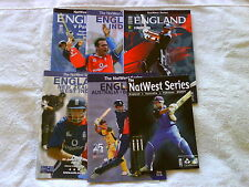 England One Day International Cricket Programmes 2000 - 2009