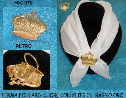 ferma foulard angelo attacco foulard  artigianale made in italy foulard klips