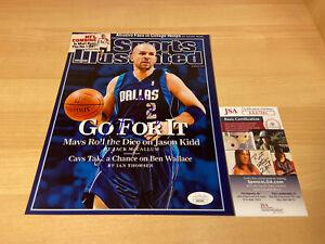 Jason-Kidd-SI-Cover-Mavericks-Dirk-Autographed-Signed-8X10-Photo-JSA-COA