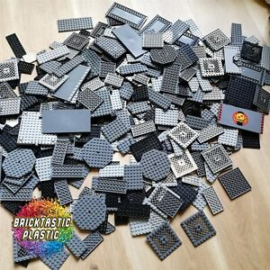 LEGO-250g-27pcs-Bulk-Lot-Lego-Plate-Packs-Grey-amp-Black