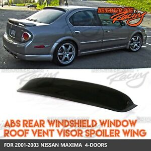 Made For 00 03 Nissan Maxima Jdm 1pc Rear Window Spoiler Sun Guard Smoked Visor Ebay