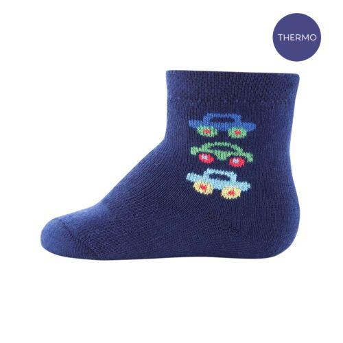ewers THERMO Socken Baby Jungen Socks Plüsch Car Navy Gr 68 80-86 27-30 NeU