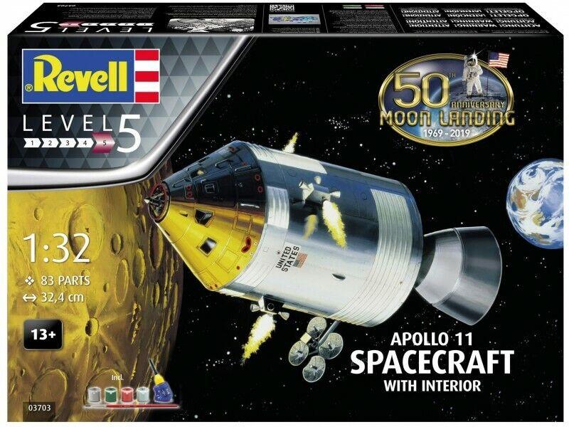 più preferenziale REVELL KIT 1 32 32 32 VEICOLO SPAZIALE APOLLO 11 spazioCRAFT WITH INTERIOR    ART 03703  salutare