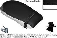 WHITE & BLACK CUSTOM FITS YAMAHA XV 1900 06-15 REAR LEATHER SEAT COVER