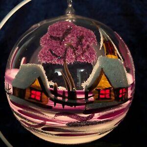 Kugel-Windlicht mit Öse und Ständer Weihnachten Deko Teelicht Glaskunst Lauscha
