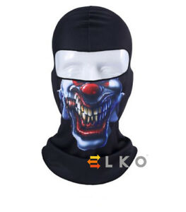 Angry-CLOWN-SKULL-Masque-Cagoule-SOUS-Casque-Chaud-Airsoft-Cou-Chauffe-Halloween