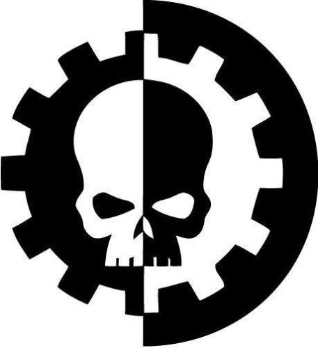 Warhammer 40k Adeptus Mechanicus Vinyl Car Window Laptop Decal Sticker
