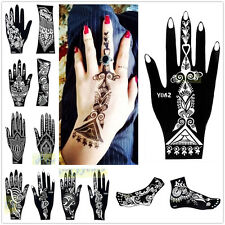 1pc India Henna Temporary Tattoo Stencils for Hand Leg Arm Feet Body Art Decal