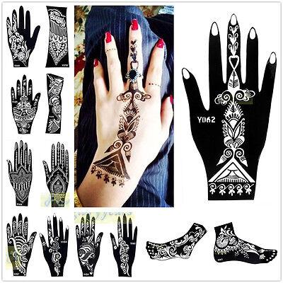 1pc India Henna Temporary Tattoo Stencils for Hand Leg Arm Feet Body Art Decal